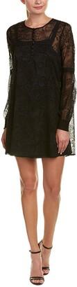 BB Dakota Women's Andres Flocked Chiffon Dress