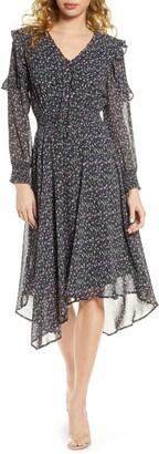 Sam Edelman Long Sleeve Chiffon Dress