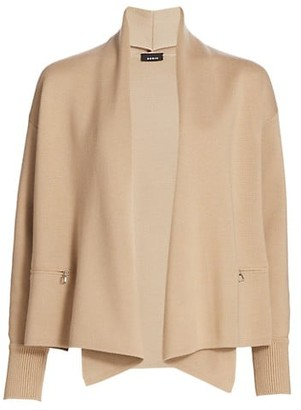 Akris Wool & Silk Shawl-Collar Cardigan