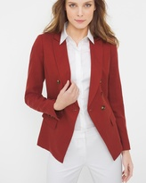 White House Black Market Cinnamon Linen-Blend Trophy Jacket