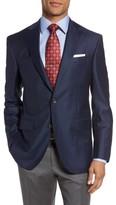 David Donahue Men's Carey Classic Fit Check Wool Sport Coat