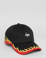 Hype Baseball Cap With Fire Embroidery
