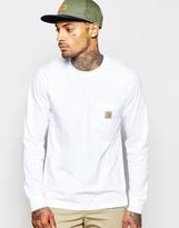 Carhartt Pocket Long Sleeve T-shirt - White