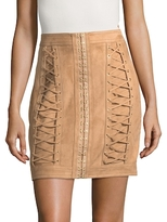 Balmain Solid Lace-Up Skirt