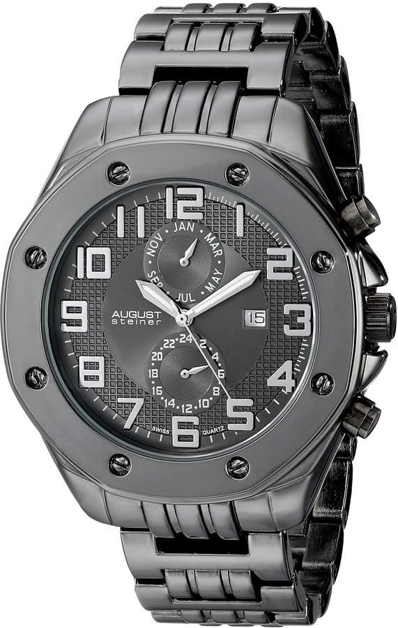 August Steiner Men's AS8140BK Analog Display Swiss Quartz Watch