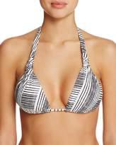 Vix Brushed Stripe Bia Triangle Bikini Top