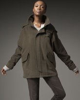 Melton Hooded Anorak Coat
