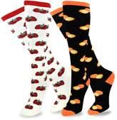 TeeHee Socks TeeHee Women's Foods Knee High Socks 2-Pack (