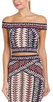 BCBGMAXAZRIA Women's Kayann Jacquard Knit Crop Top
