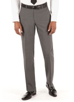 Thomas Nash Grey Narrow Stripe Tailored Fit Suit Trousers