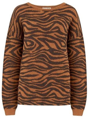 Sugarhill Boutique Livvy Big Cat Tiger Sweater - 14