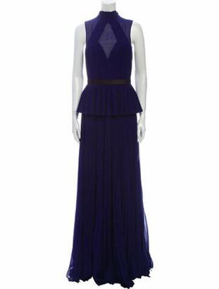 Jason Wu Mock Neck Long Dress Blue