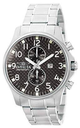 Invicta 0379 Specialty Men's Wrist Watch Stainless Steel Quartz Black Dial