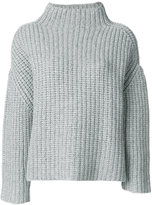 Eudon Choi mock neck ribbed jumper