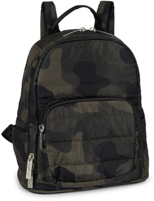 Bari Lynn Camouflage Mini Backpack