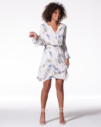 Vince Camuto Floral-print Ruffled Dress