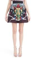 Mary Katrantzou Women's Print Pleated Faille Skirt