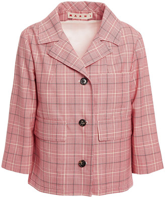 Marni Prince Of Wales Checked Woven Jacket