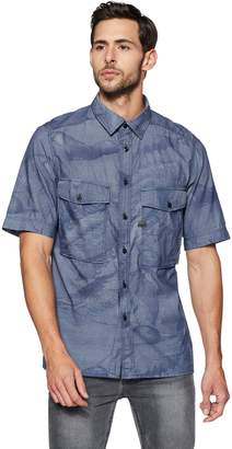 G Star Men's Type C Straight Shirt S/s Lt Wt Torg Chambray Duck