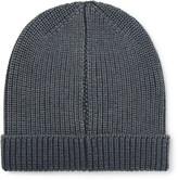 Boglioli Ribbed Garment-Dyed Virgin Wool, Silk and Cashmere-Blend Beanie