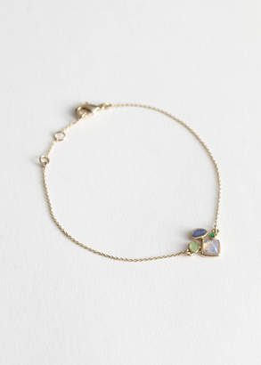 And other stories Stone Charm Chain Bracelet