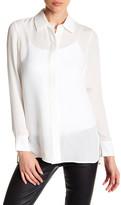 Vince Long Sleeve Classic Silk Shirt