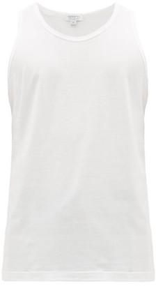 Sunspel Superfine-cotton Tank Top - White