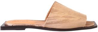 Ganni Square Toe Flat Sandals