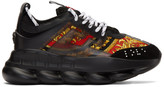 Versace Black Barocco Chain Reaction Sneakers