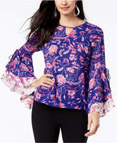 Thalia Sodi Tiered-Sleeve Keyhole Top, Created for Macy's