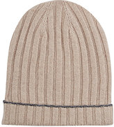 Barneys New York MEN'S TIPPED-CUFF WOOL-CASHMERE HAT-TAN