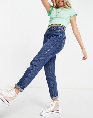 Topshop mom jeans in indigo