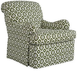 Mr & Mrs Howard Edwardian Club Chair - Hunter Green/Ivory Linen