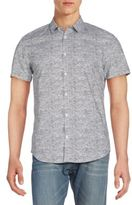 Calvin Klein Slim-Fit Short-Sleeve Cotton Sportshirt