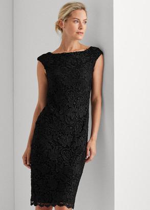 Ralph Lauren Lace Cap-Sleeve Dress