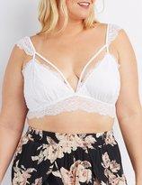 Charlotte Russe Plus Size Caged Floral Lace Bralette