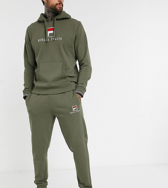 Fila Deno Essential jogger in khaki exclusive at ASOS