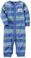 """Carter's Baby Boy Out Of This World Cute"""" Striped One-Piece Pajamas"""