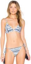 Somedays Lovin Ipanema Triangle Bikini Top in Blue