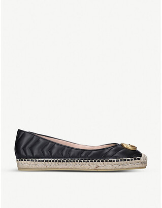 Gucci Pilar Ballet quilted leather flatform espadrilles