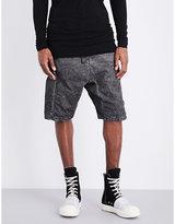 Boris Bidjan Saberi Regular-fit Dropped Crotch Cotton And Linen-blend Shorts