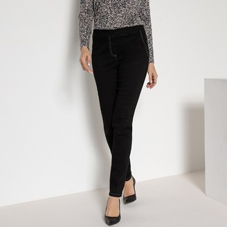 """Anne Weyburn Pull On Jeggings with Elasticated Waist, Length 30.5"""""""