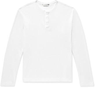 Club Monaco Waffle-Knit Cotton-Jersey Henley T-Shirt