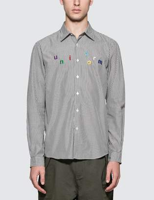 Uniform Experiment Color Embroidery Regular Collar Shirt