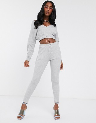 Club Skinny The Couture contrast jogger in gray