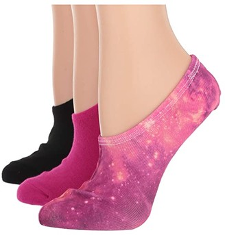 Converse Galaxy Print Made for Chuck Ox 3-Pair Pack (Pink Print) Women's No Show Socks Shoes