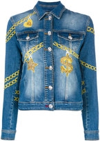 Philipp Plein Blejan denim jacket - women - Cotton/Spandex/Elastane - M