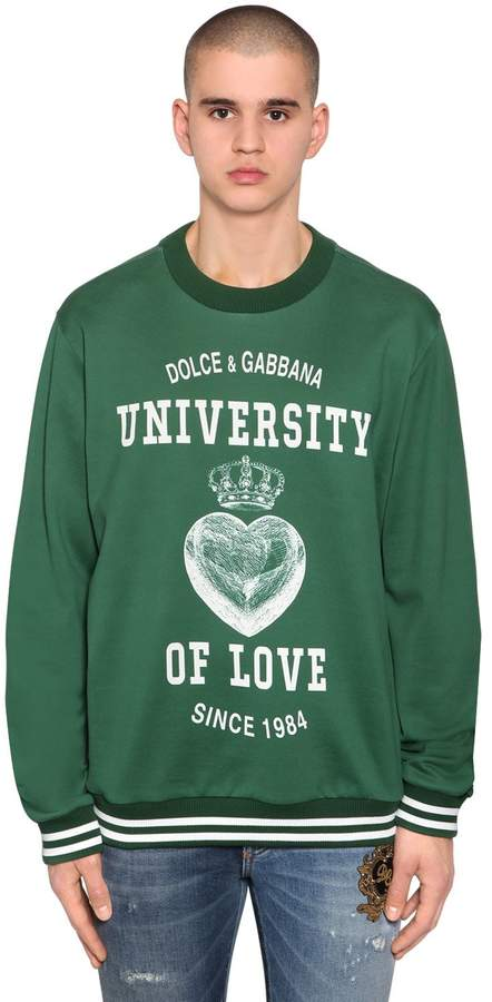Dolce & Gabbana University Of Love Print Jersey Sweater