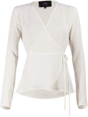 Pop Copenhagen POP Copenhagen - White Crepe Chiffon Wrap Blouse - XS - White