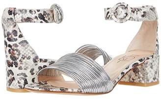 AGL Ankle Strap Sandal (Silver/Thaij Leopard Snake) Women's Shoes